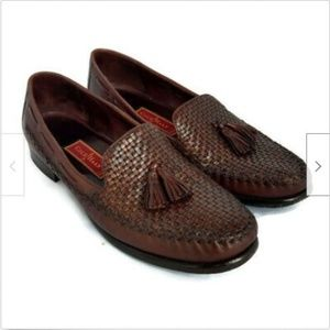 Cole Haan Country brown leather tassel loafers